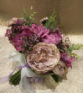 Dusky pinks and purples silk bouquet